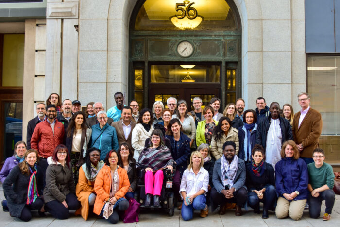 Call for nominations: SeedChange Board of Directors - an image of SeedChange staff and board together outside 56 Sparks St.